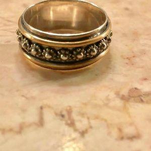 Sundance sterling and brass ring